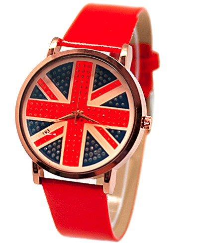 Часы British fever (красные)