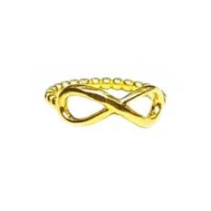 Позолоченное кольцо Бесконечность - шарики