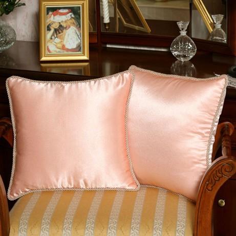Шелковые подушки, светло-розовые (2 шт)