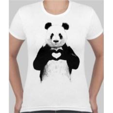 Женская футболка Панда с сердцем