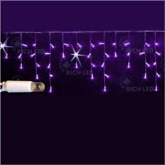 Мерцающая светодиодная бахрома фиолетового цвета 3х0,5 м