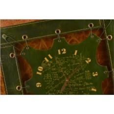 Часы из кожи Математика (зеленый)