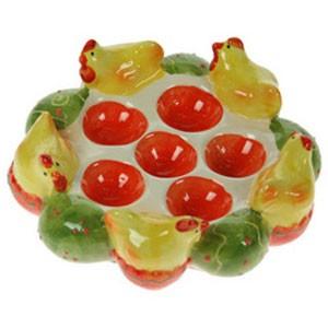 Тарелка под пасхальные яички «Пасхальные курочки»