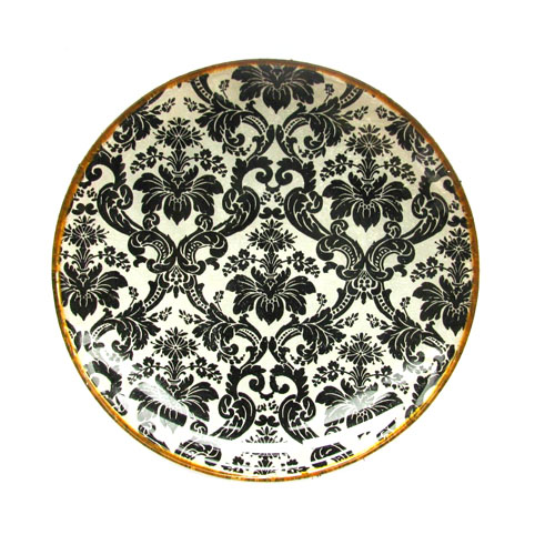 Черно-белый орнамент. Декоративная тарелка