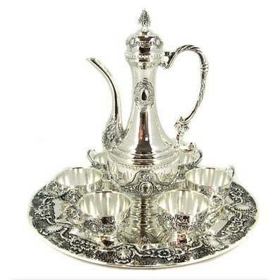 Набор «Кофейный» на подносе с серебряным покрытием