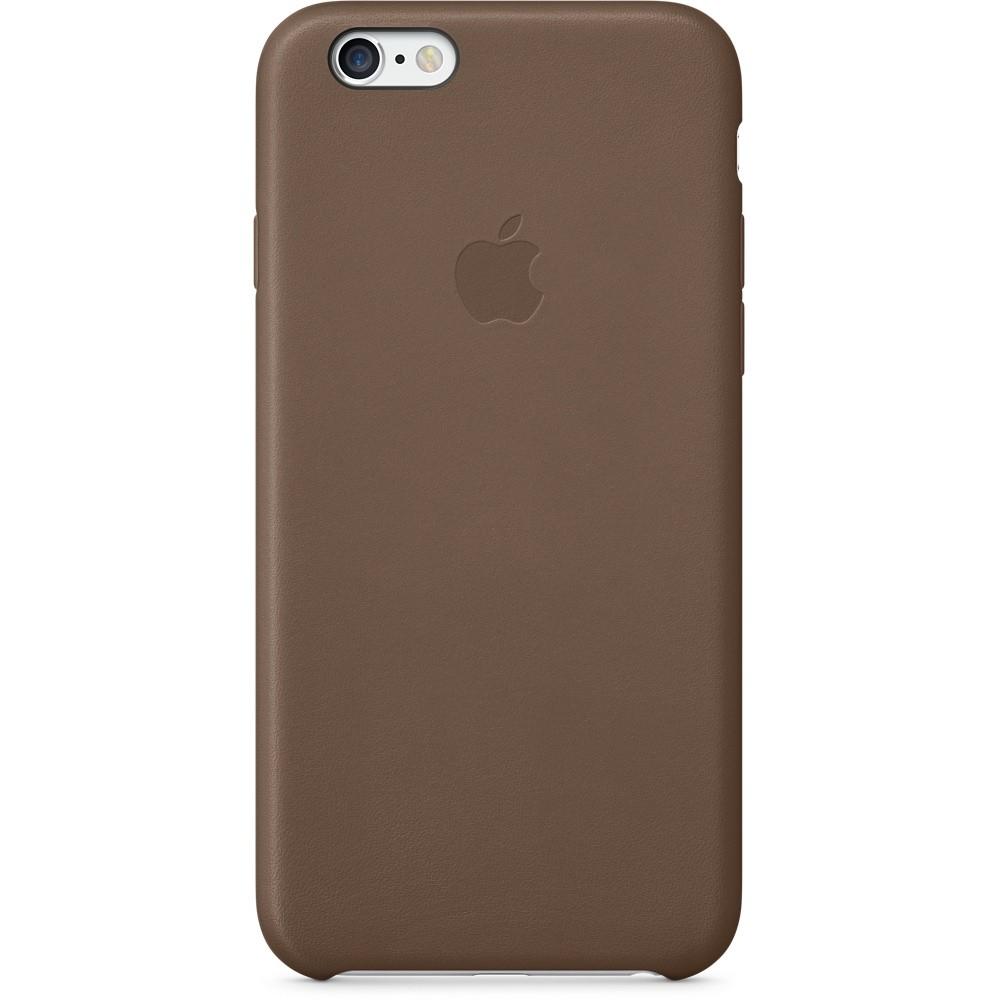 Оливково-коричневый кожаный чехол для Apple iPhone 6