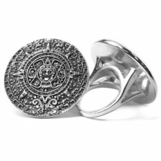 Серебряное кольцо Календарь