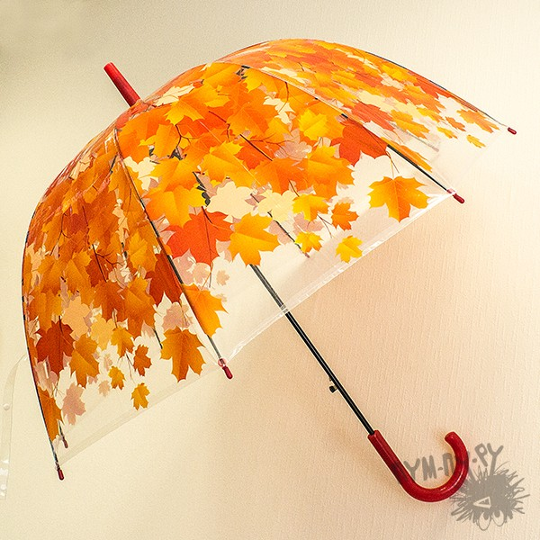 Зонт с листьями Осенний вальс