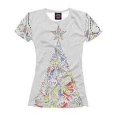 Женская футболка Ёлка