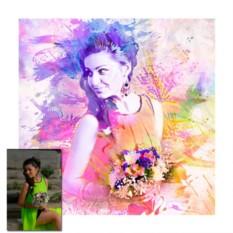 Стилизация фото под бьюти-арт