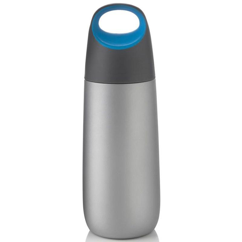 Вакуумная фляга Bopp 600 мл, синяя/серая
