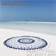 Пляжное покрывало с бахромой Геометрическая мандала