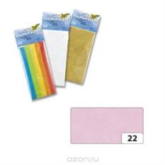 Бумага папиросная Folia, цвет: светло-розовый, 5 листов