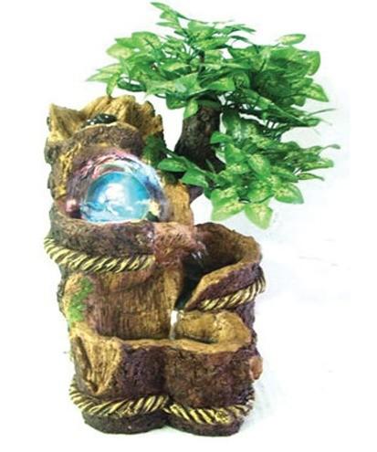 Декоративный фонтан Дерево и шар с подсветкой