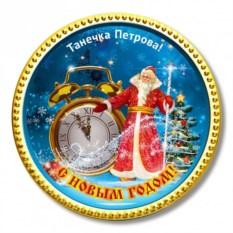 Шоколадная медаль «Будильник Деда Мороза»
