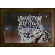 Картина с кристаллами Swarovski Снежный барс