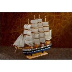 Сувенирный парусный четырехмачтовый корабль Барк (тип 2)