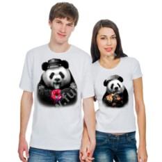 Парные футболки Панды, с пончиком и пиццей