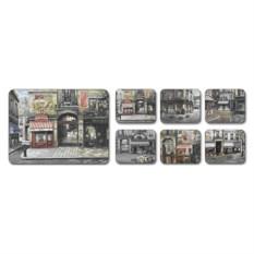 Набор подставок под посуду (кафе) The village square