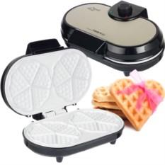 Керамическая вафельница на 10 сердечек First