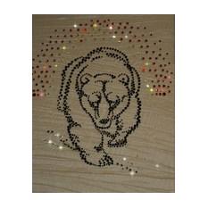 Картина с кристаллами Swarovski Медведь