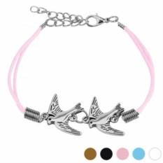 Розовый браслет Ласточки