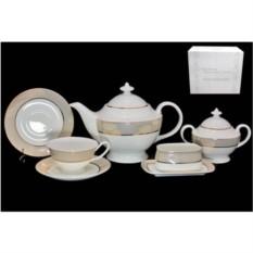 Фарфоровый чайный сервиз из 18 предметов Золотая симфония