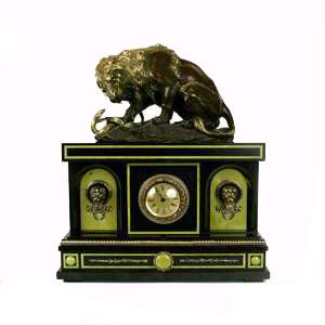 Каминные часы «Лев со змеей»