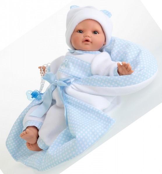 Плачущая кукла Марта в голубом