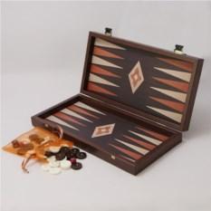 Темно-шоколадные нарды в деревянном кейсе
