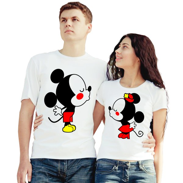 Парные футболки Поцелуй, мышата