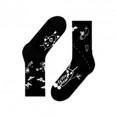 Носки Alien and bats, черные