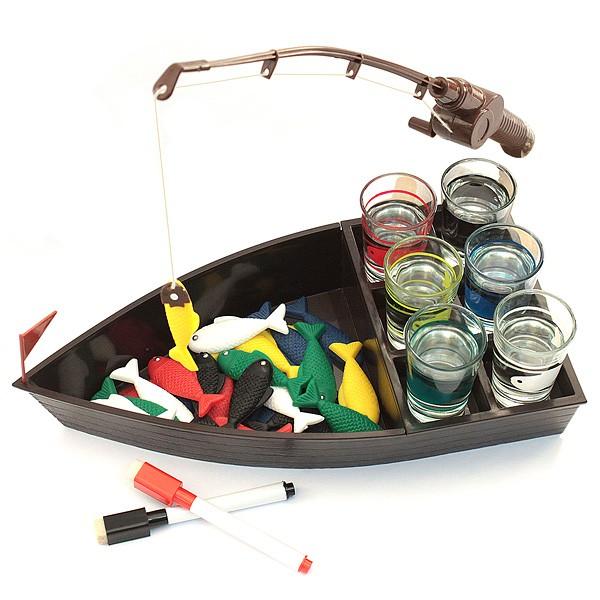 Игра для взрослых Пьяная рыбалка со стопками