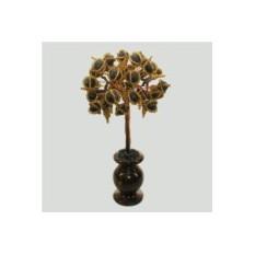 Дерево жизни из шунгита в вазочке из оникса
