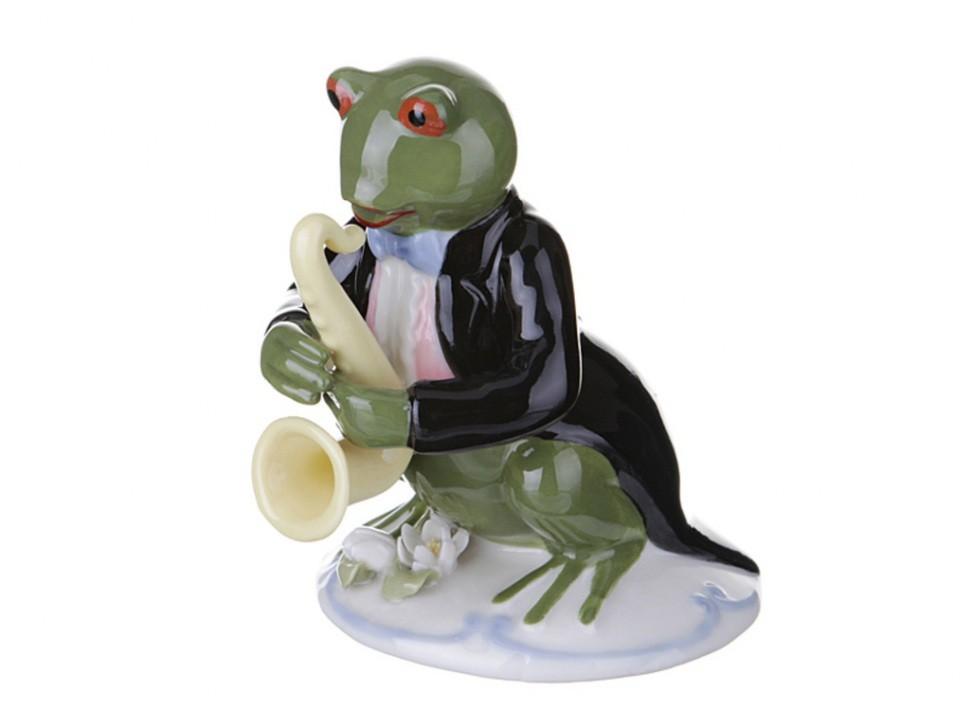 Фигурка Лягушонок — саксофонист
