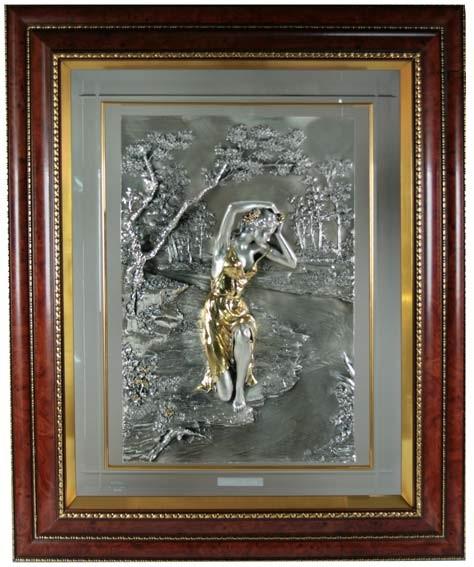 Картина Девушка у реки.