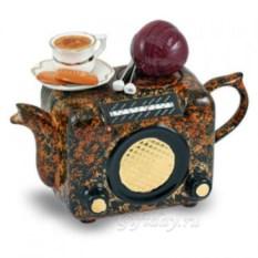 Коричневый чудо-чайник Ретро-радио