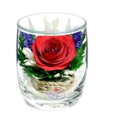 Композиция из натуральных роз в стаконе