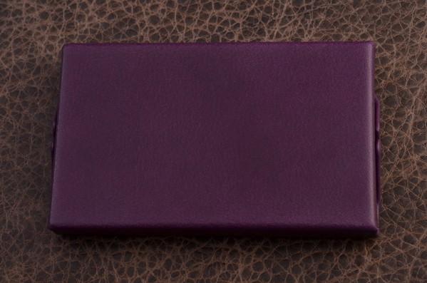 Карманная визитница. Коллекция G.Design (фиолетовый; нат. кожа)
