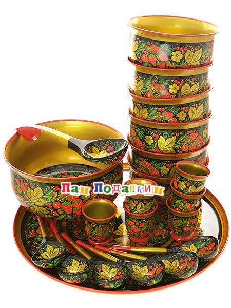 Набор для супа из 21 предмета Клубника