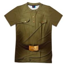Мужская футболка 3D с полной запечаткой Солдатская форма