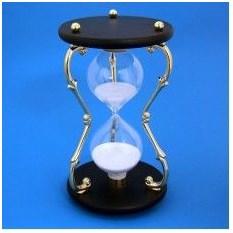 Песочные часы черного цвета