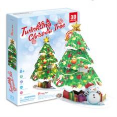 Пазлы Cubic Fun Новогодняя елка с подсветкой