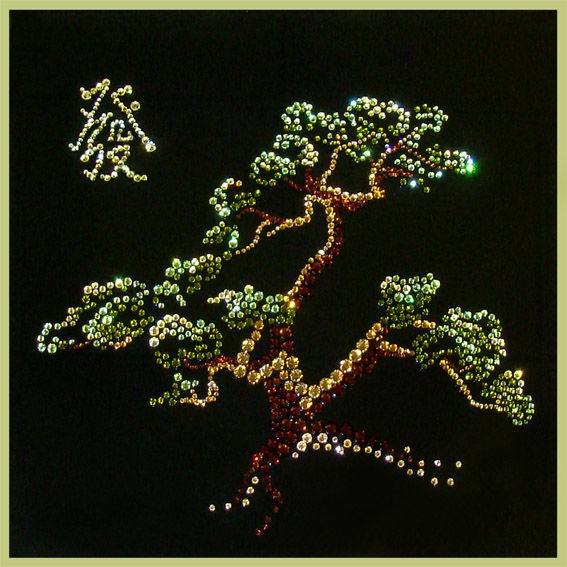 Картина с кристаллами Swarovski Древо процветания