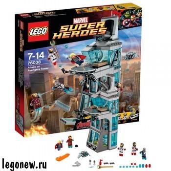 Конструктор Нападение на башню Мстителей Lego