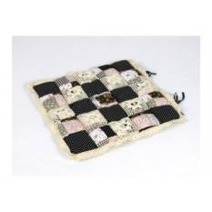 Черно-розовая подушка-сидушка Patchwork