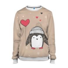 Женский свитшот Пингвин с шариком
