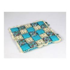 Бирюзовая подушка-сидушка Patchwork