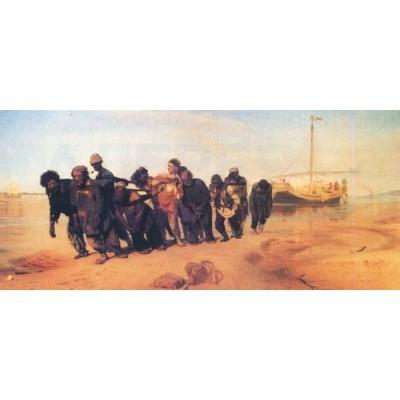 Репродукция картины Бурлаки на Волге