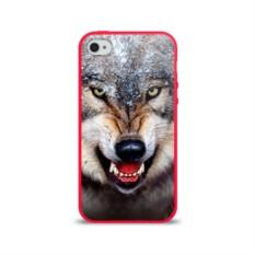 Силиконовый глянцевый чехол для Apple iPhone 4 Волк